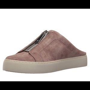 Frye Lena Zip Mule Sneaker Dusty Rose Sz 7.5